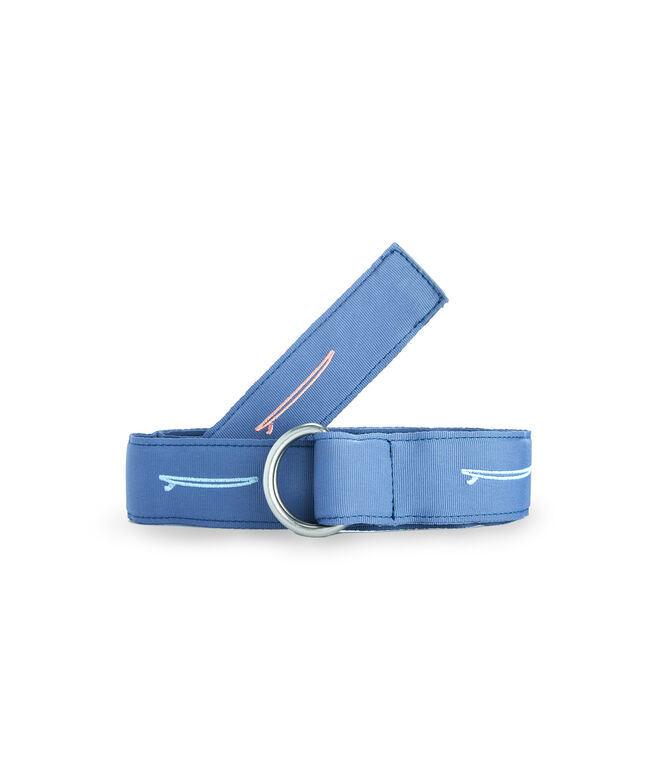 Surfboard Icon Embroidered D-Ring Belt