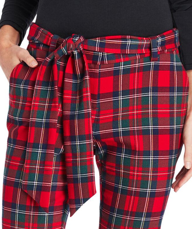 Merry Plaid Ponte Cocktail Pants