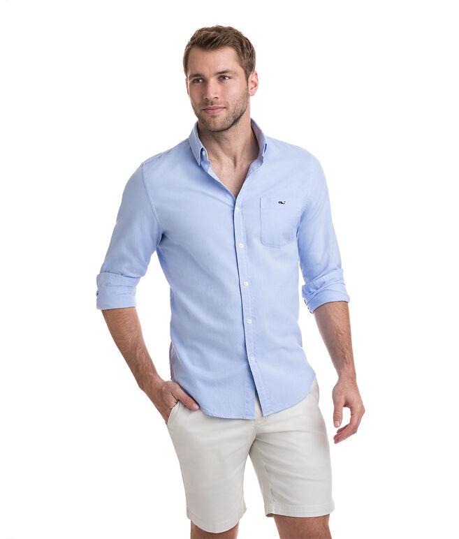 Garment Dyed Stretch Oxford Slim Stretch Tucker Shirt