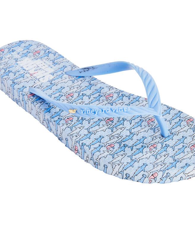 Keep Swimming Printed Flip Flops