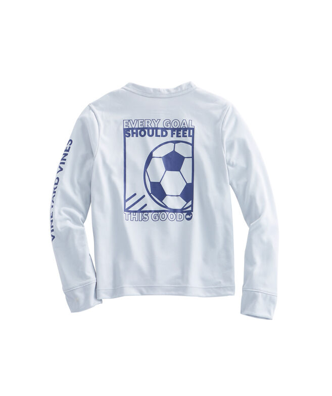 Shop boys long sleeve performance soccer box t shirt at for Boys soccer t shirts