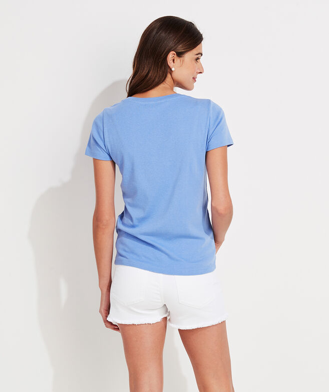 Simple V-Neck Short-Sleeve Tee