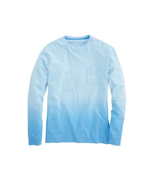 Shop long sleeve dip dyed vintage whale pocket t shirt at for Mens dip dye shirt