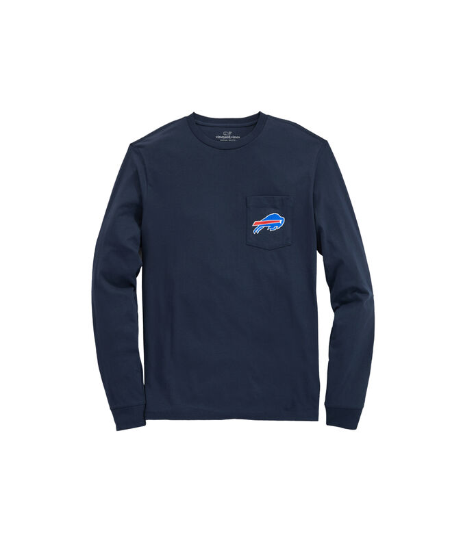 Buffalo Bills Long-Sleeve Block Stripe T-Shirt