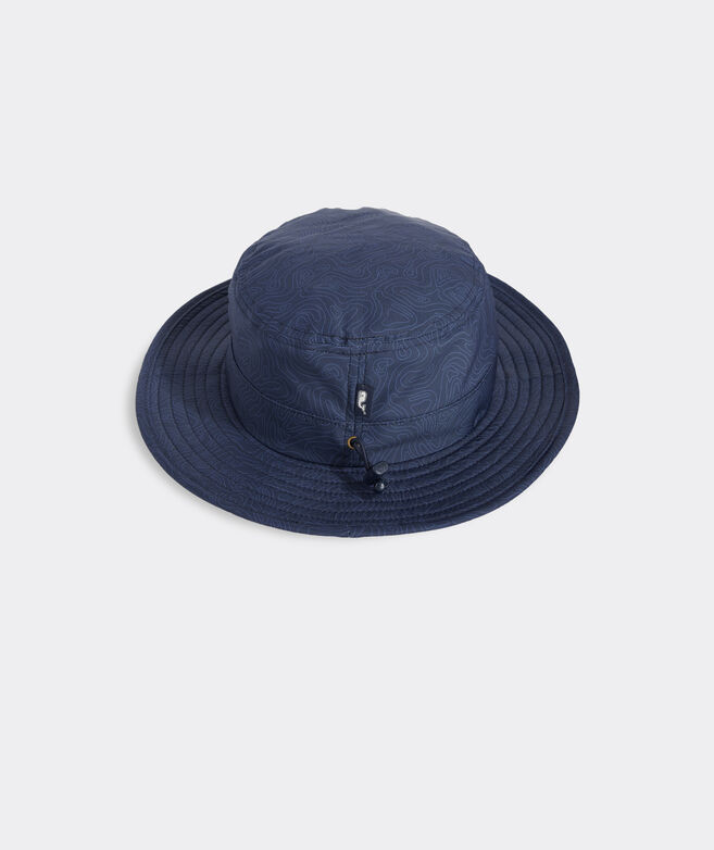 Tonal Topo Print Performance Bucket Hat