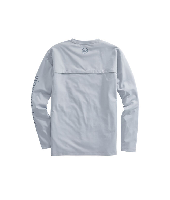 Long-Sleeve Performance Cationic Vented Boating T-Shirt