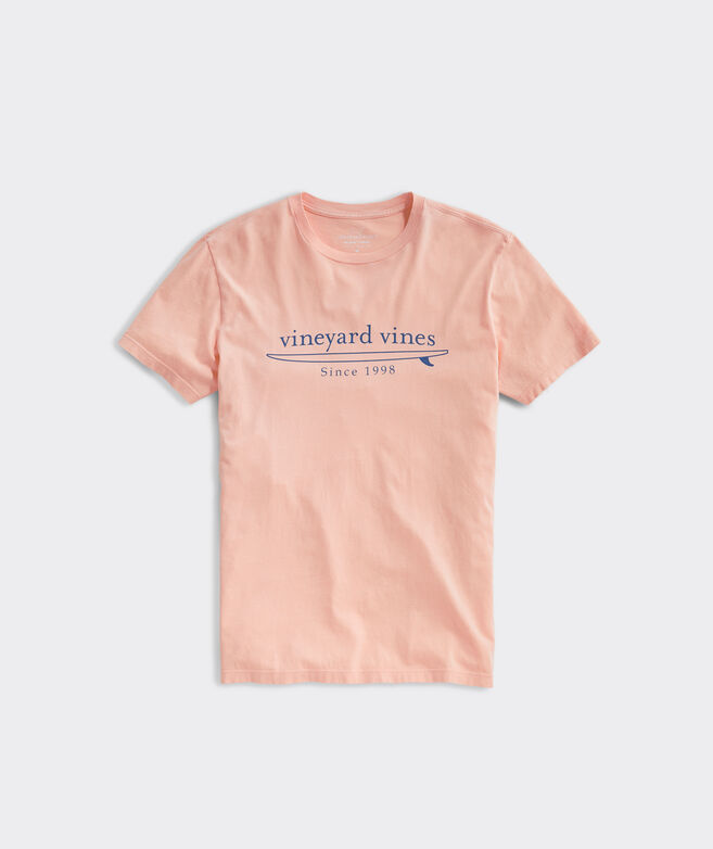 Garment-Dyed Simple Surf Logo Short-Sleeve Island Tee