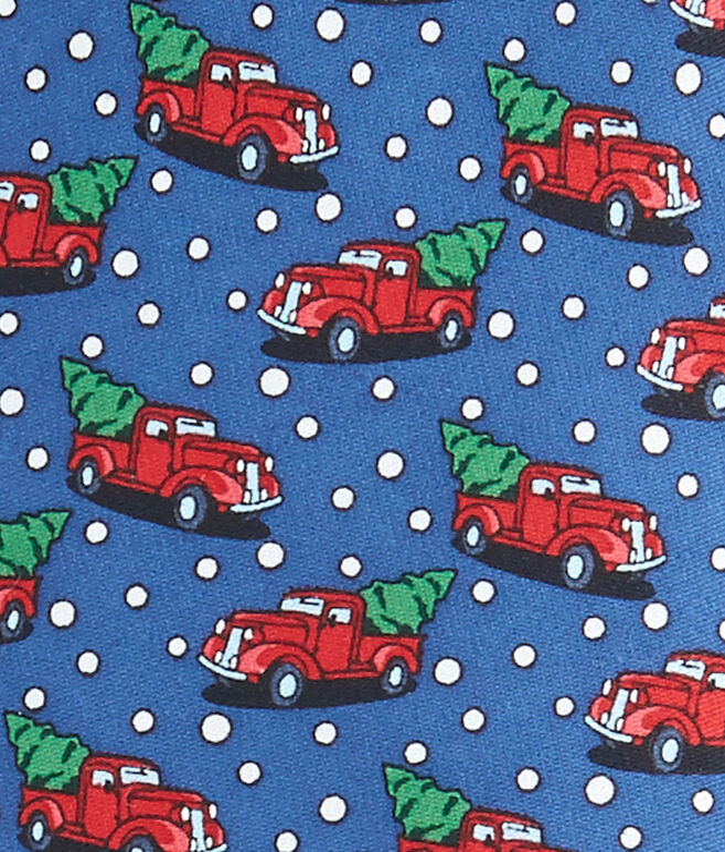 Boys Truck & Tree Tie