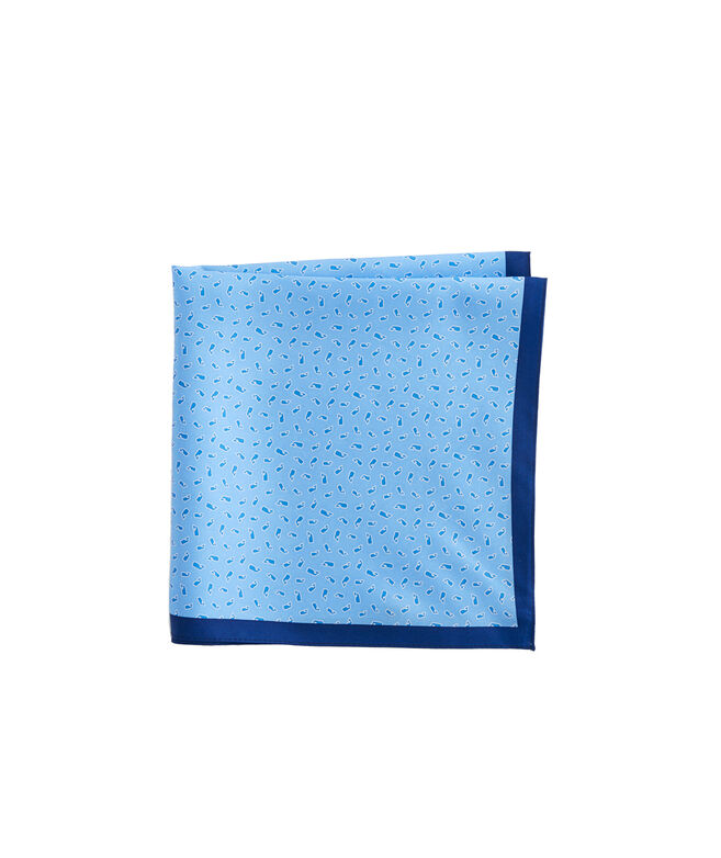 Whale Toss Pocket Square
