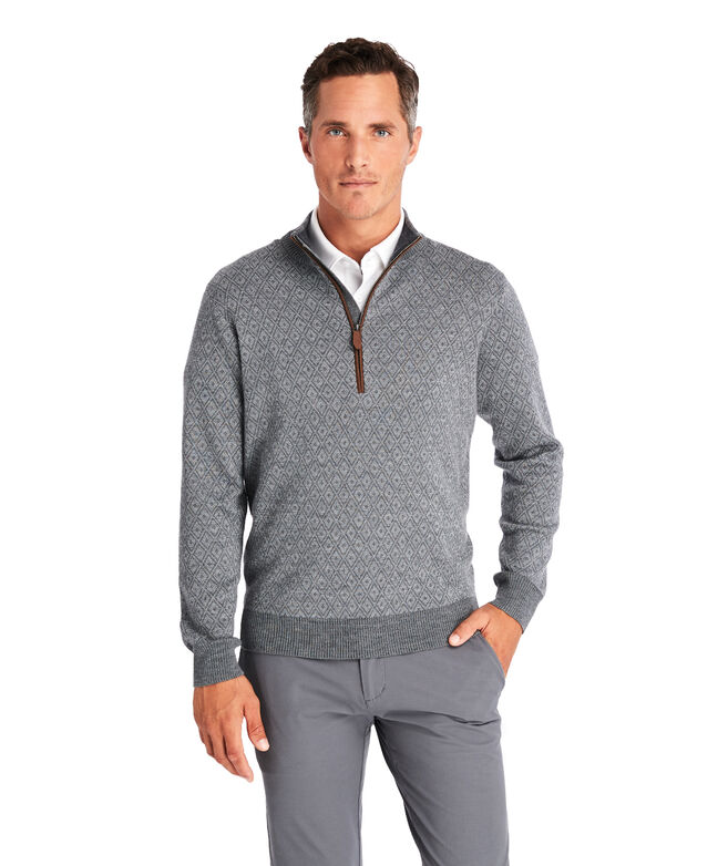 Ocean Avenue Patterned 1/2-Zip Sweater