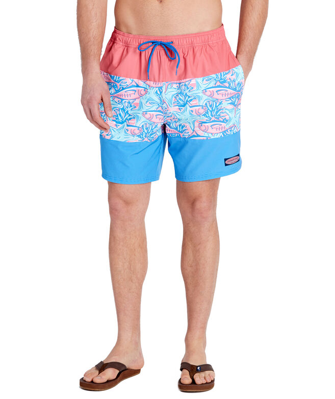 675ee99bc1dbf2 Shop Tuna & Starfish Pieced Chappy Trunks at vineyard vines