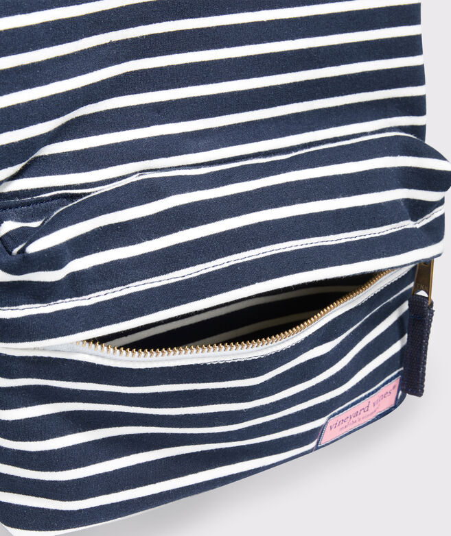 Girls' Striped Knit Backpack