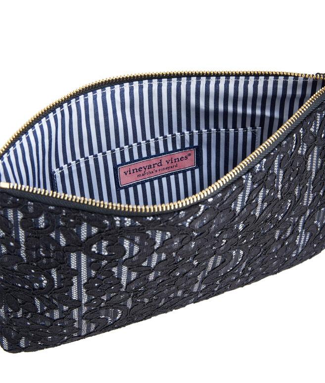 Striped & Lace Clutch