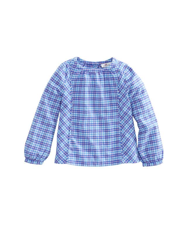 Girls Morgan Way Plaid Flannel Top