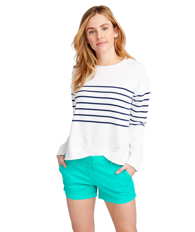 Long-Sleeve Stripe Sweatshirt
