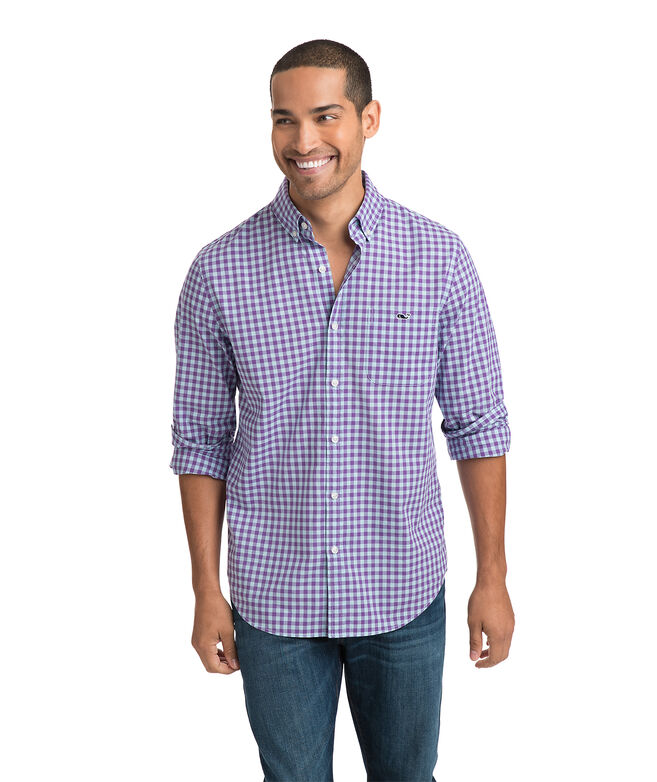 Foggy Coast Gingham Slim Tucker Shirt