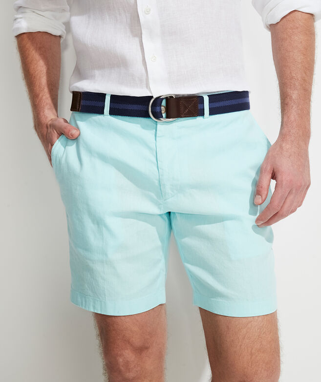 8 Inch Cotton Linen Greenwich Shorts