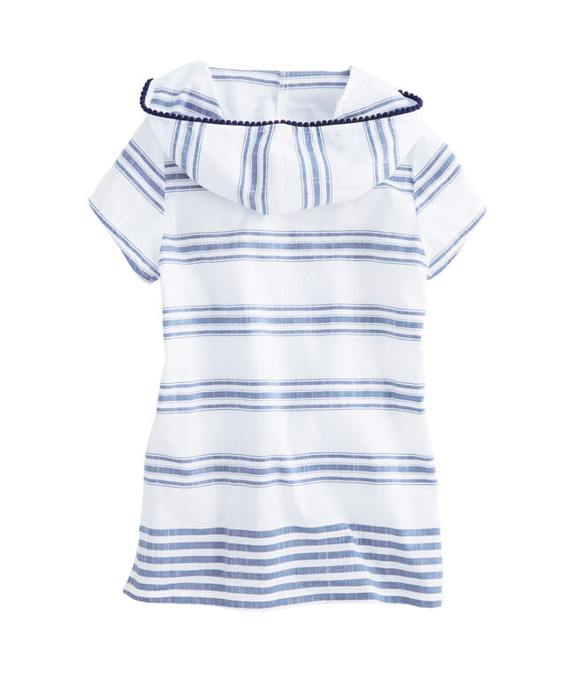 Girls Seafoam Stripe Hooded Tunic