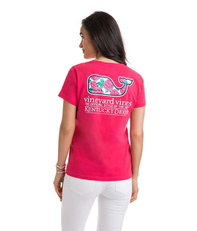 Kentucky Derby Rose Whale Pocket Tee