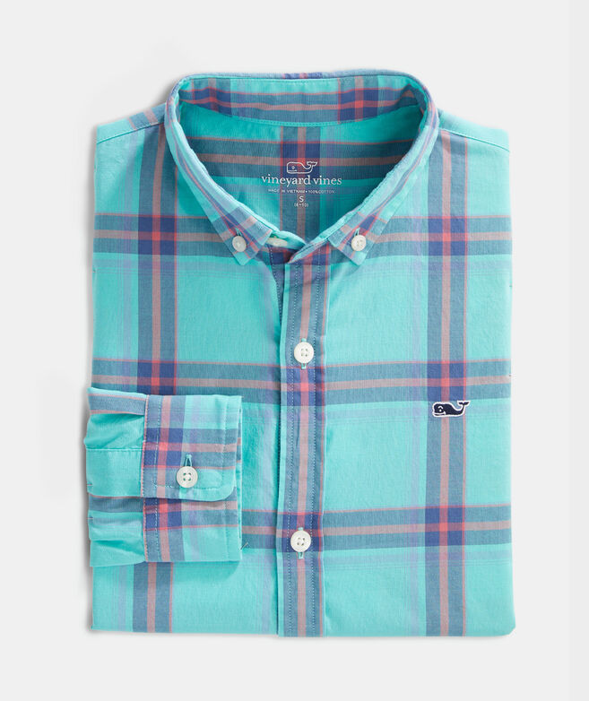 Boys' Second Wind Whale Button-Down Shirt