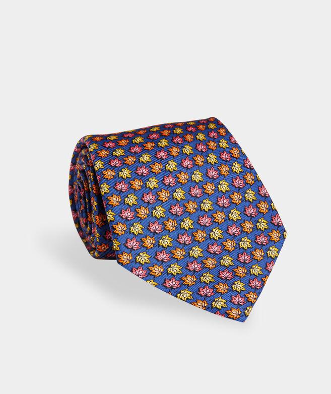 Fall Leaves Printed Tie