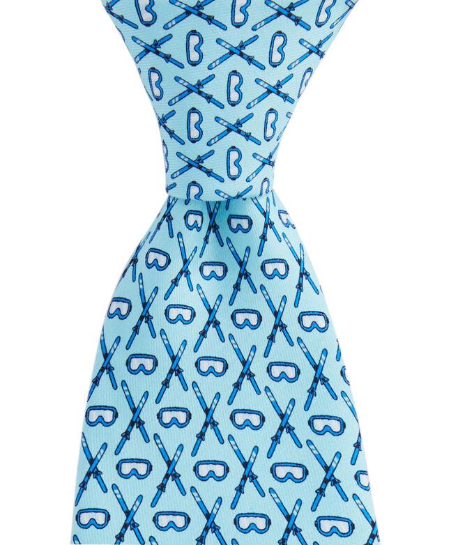 OUTLET Crossed Skis Printed Tie