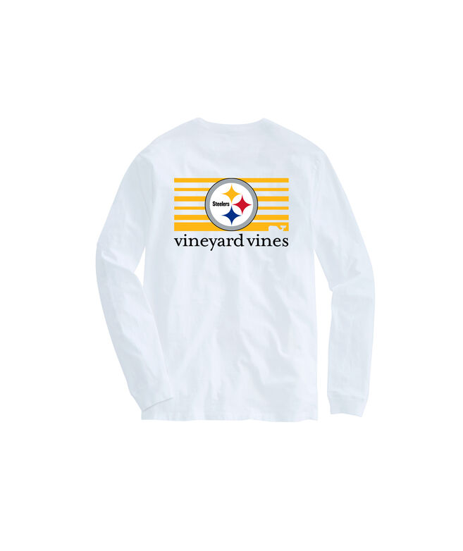 Adult Steelers Long-Sleeve Block Stripe T-Shirt