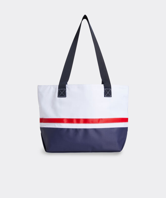 Striped Sailcloth Classic Tote Bag
