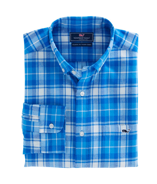 Lone Point Plaid Performance Flannel Classic Tucker Shirt