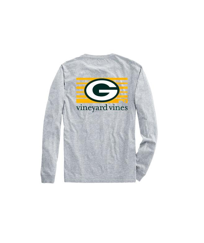 Adult Packers Long-Sleeve Block Stripe T-Shirt