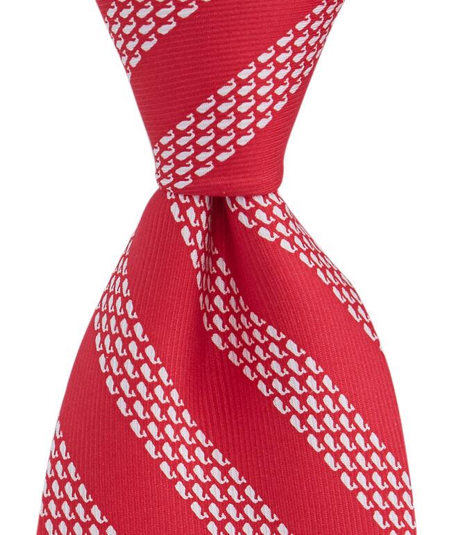 Boys Micro Whale Repp Stripe Tie