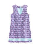 Girls Scallop Print Tunic Shift Dress