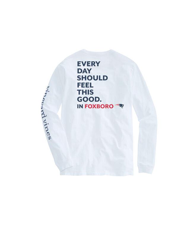 Adult New England Patriots EDSFTG Long-Sleeve T-Shirt