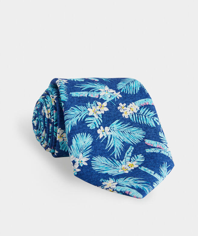 Tropical Flowers Printed Tie