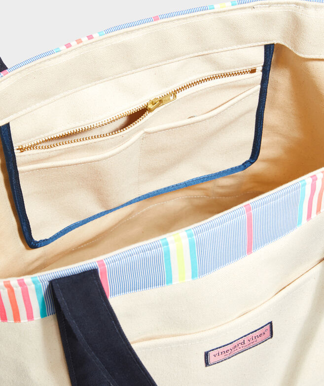 Beachy Stripe Oversized Classic Tote Bag