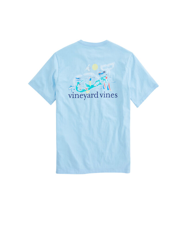 Shop short sleeve bermuda whale pocket t shirt at vineyard for Whale emblem on shirt