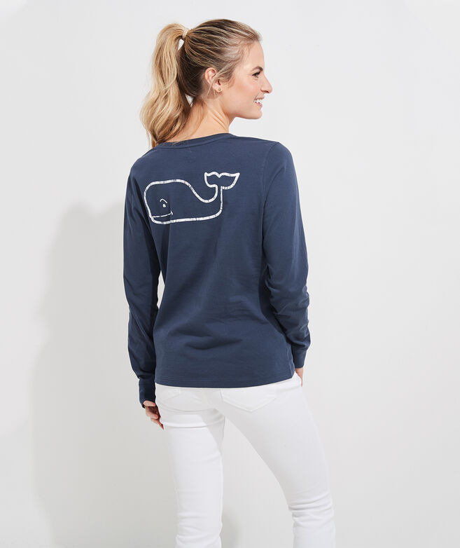 Vintage Whale Long-Sleeve Print Tee