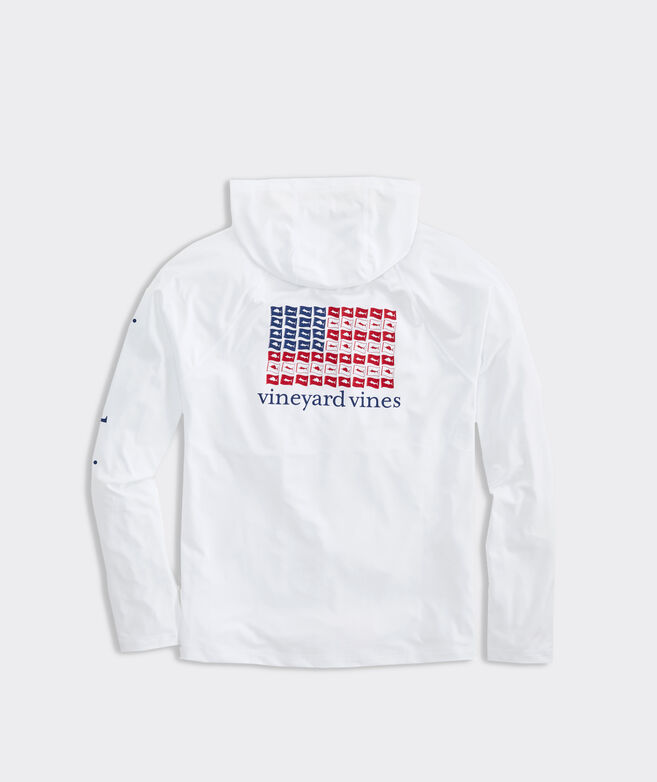 USA Release Flags Long-Sleeve Performance Hoodie Tee