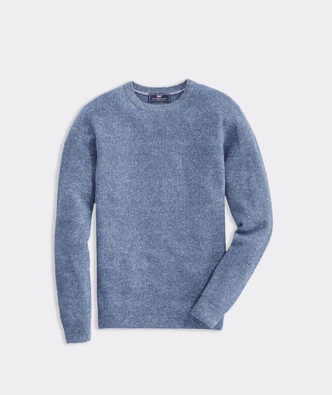 Bungalow Linen Cashmere Crew Sweater