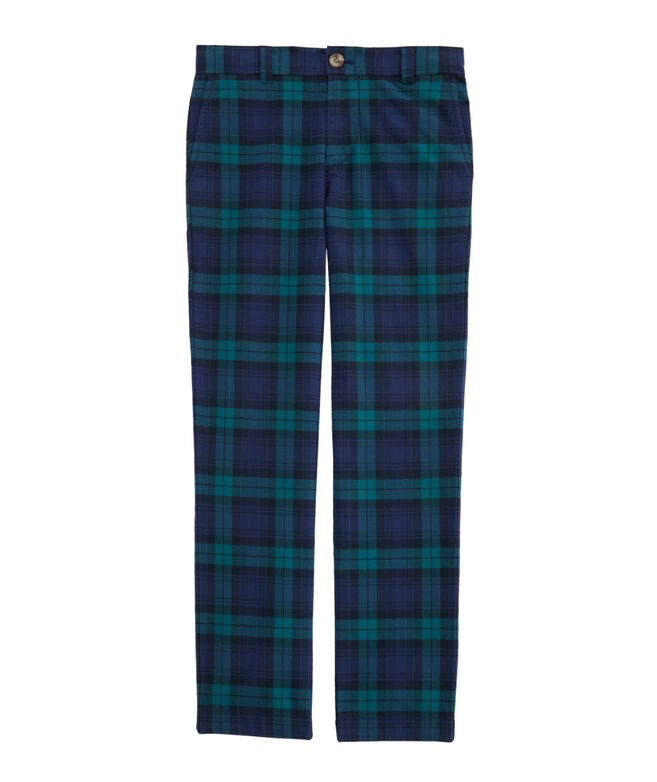 Boys Holiday Plaid Breaker Pants