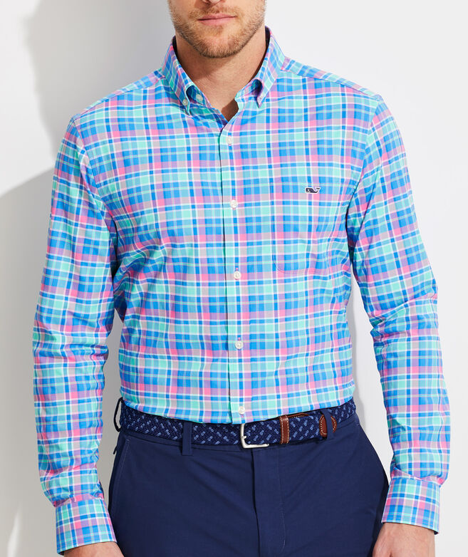 Classic Fit Sun Star On-The-Go Performance Tucker Button-Down Shirt