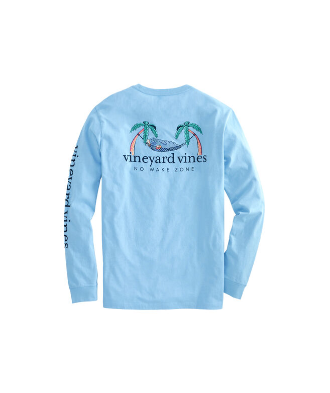 Long-Sleeve No Wake Zone Pocket T-Shirt