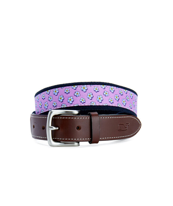 Jim Nantz Forget-Me-Knot Canvas Club Belt