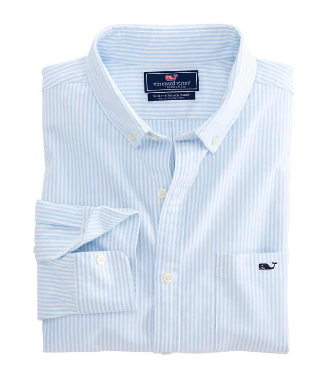 Slim Fit Accra Stripe Tucker Shirt
