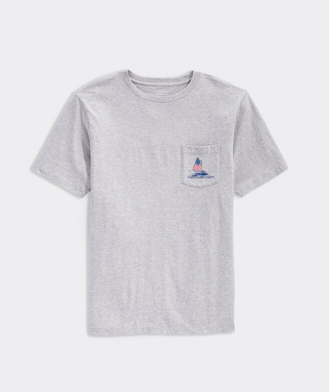 Smiling Whale Short-Sleeve Pocket Tee