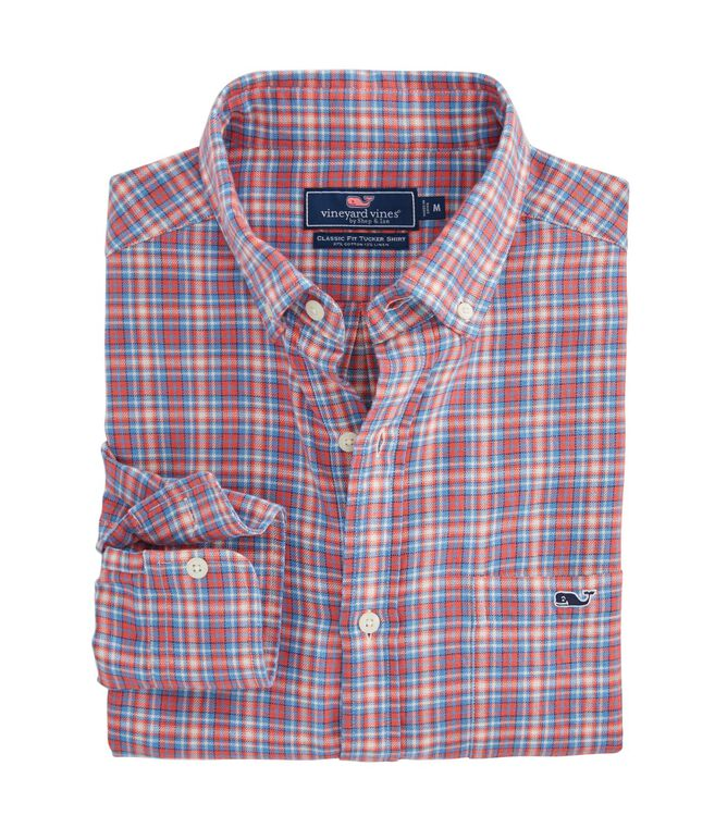 Check Beach Flannel Slim Tucker Shirt