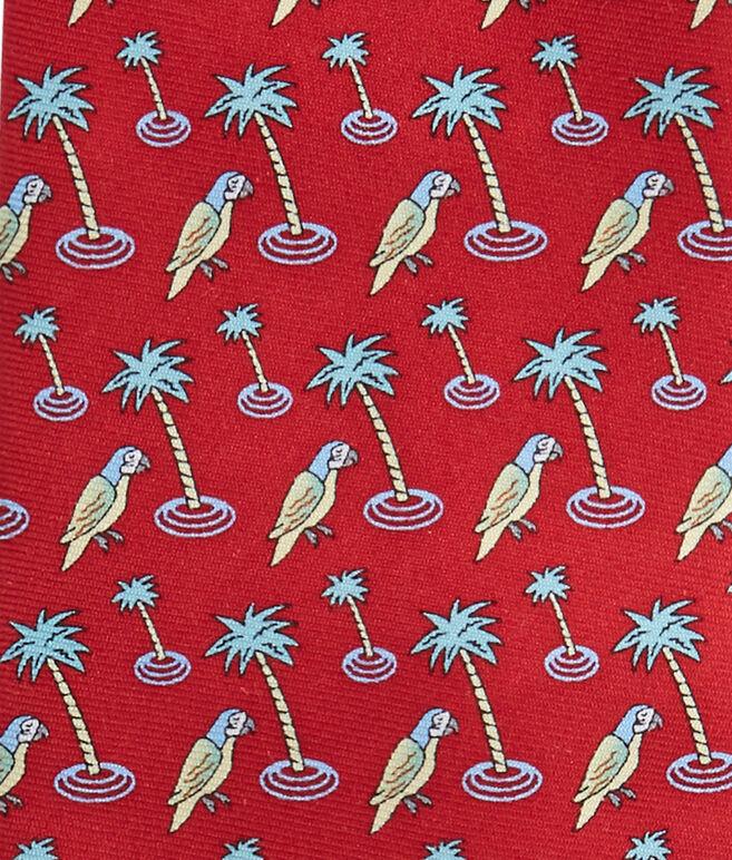 Parrot & Palm Tie