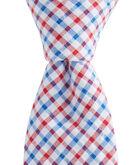 Gingham Seersucker Kennedy Skinny Tie