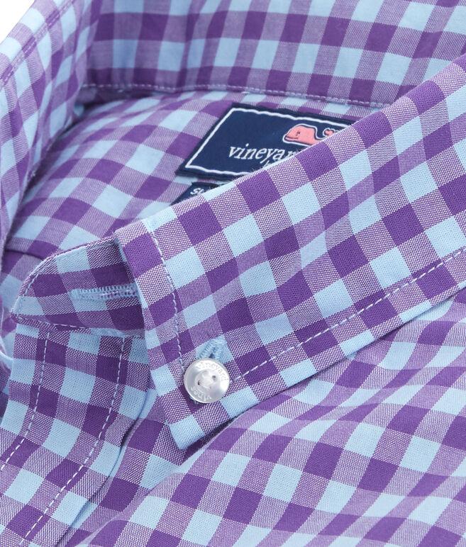 Foggy Coast Gingham Slim Tucker Shirt