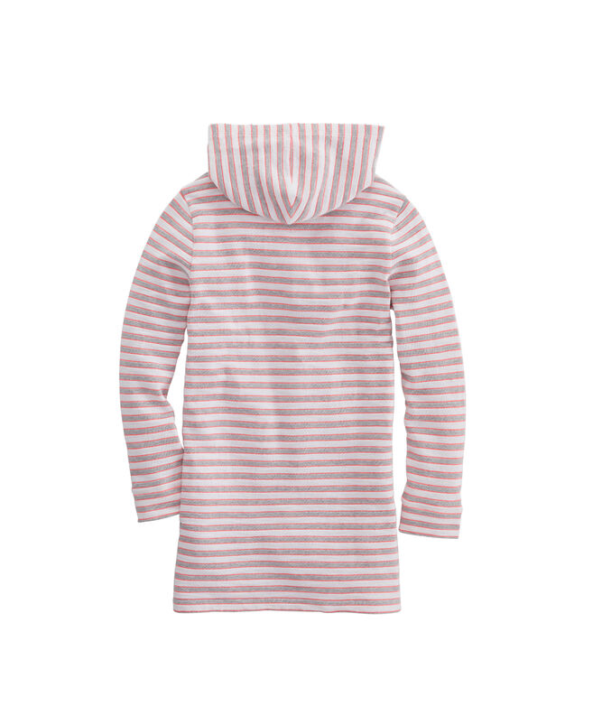 Girls Greenwich Stripe Hooded Cover-Up